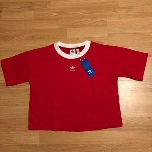 """New """"Adidas crop top size Large"""